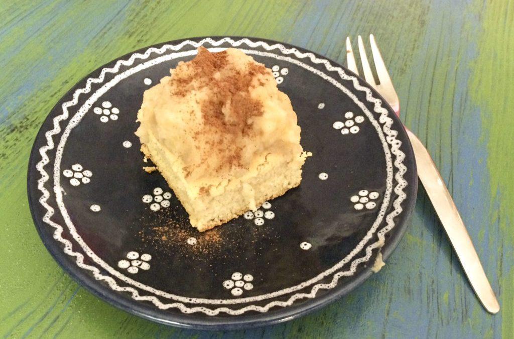 Kókuszos köles sütemény almakrémmel