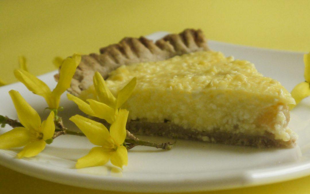 Vaníliás-túrós pite