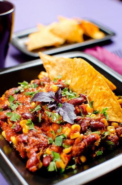 Vegetáriánus chili con carne