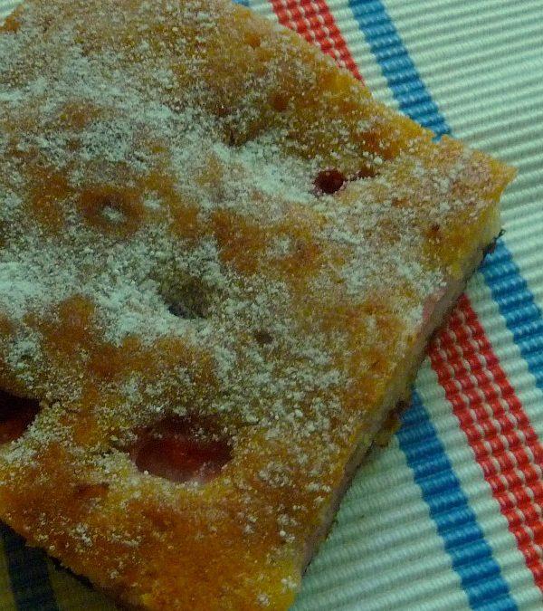 Egyszerű epres süti