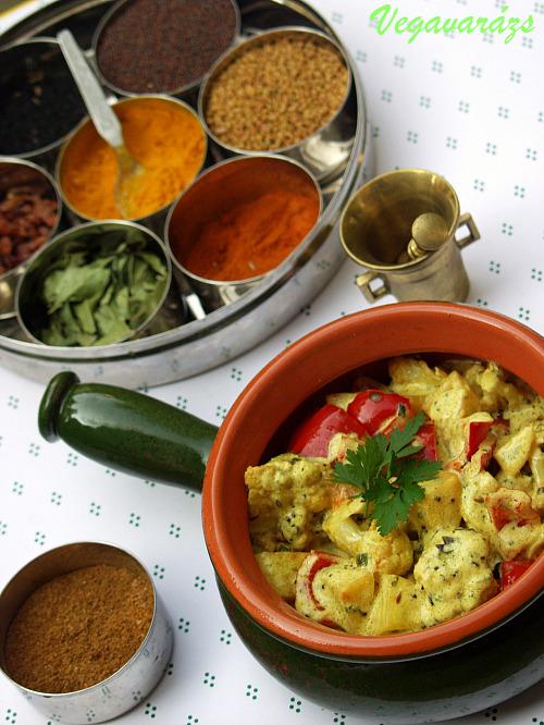 Dahi szabdzsi – sült zöldségek fűszeres joghurtban