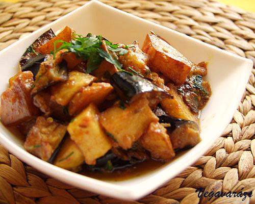 Alu began – azaz krumpli-padlizsán szabdzsi