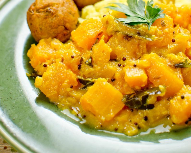 Kaddu sabji – fűszeres sütőtök